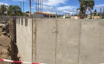 Alzado muro hormigon Estepona