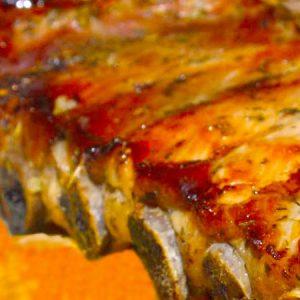 Costillitas de Cerdo a la Miel