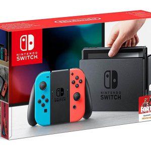 Nintendo Switch Consola de Videojuegos color Azul Neón Rojo Neón