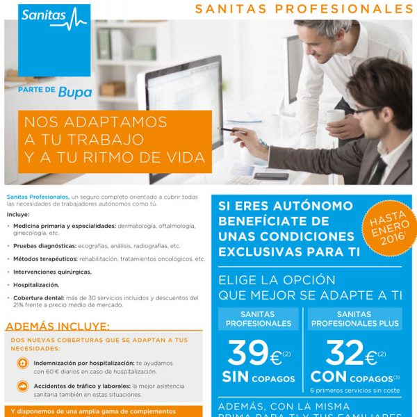 Sanitas Profesionales en seguros médicos