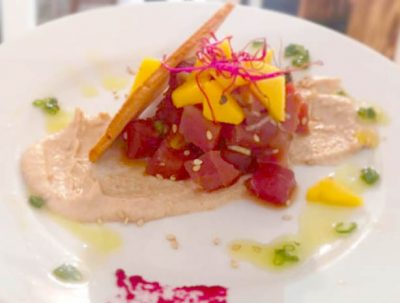 Atún rojo de Almadraba con ajo blanco