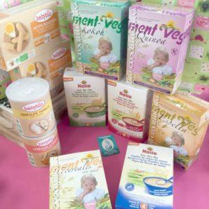 Cereales integrales y ecológicos infantiles para bebés
