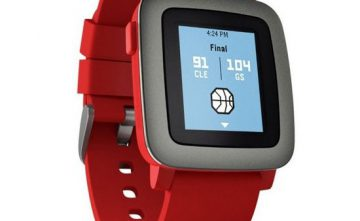 Reloj de pulsera Smartwatch Pebble time rojo